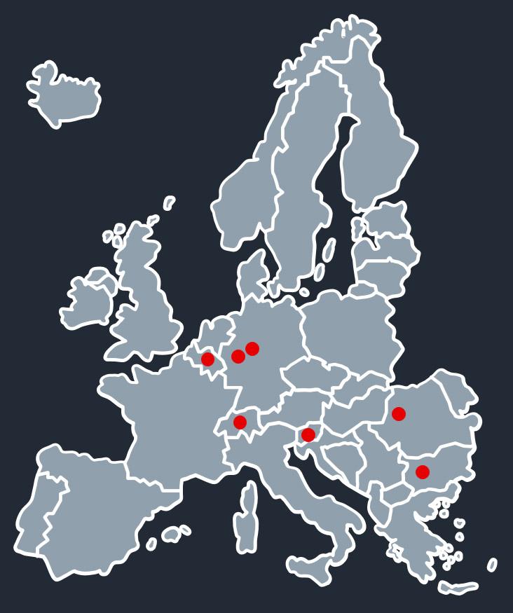 Karte mit Standorte